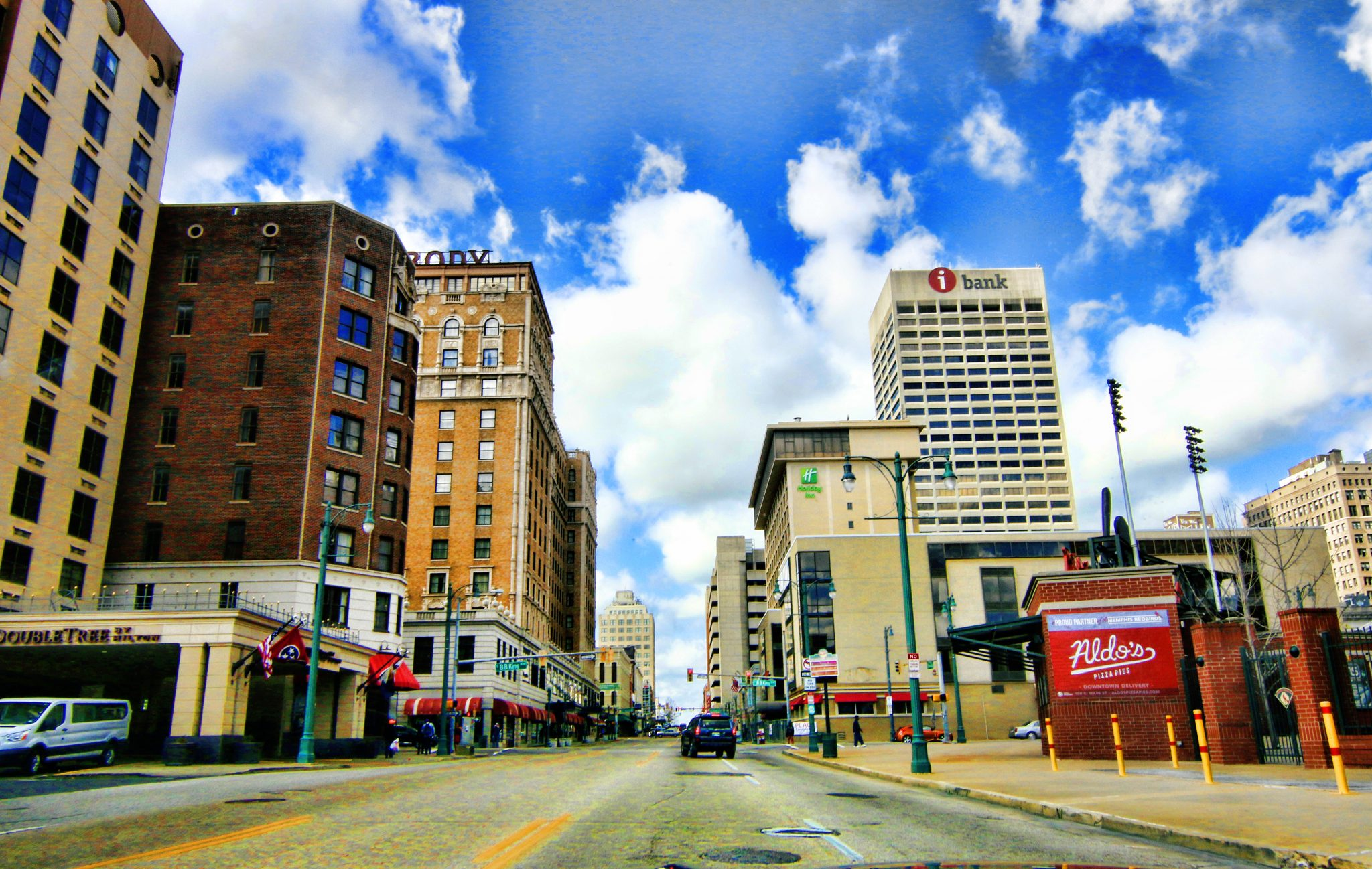 Framed 16X20 Downtown Memphis